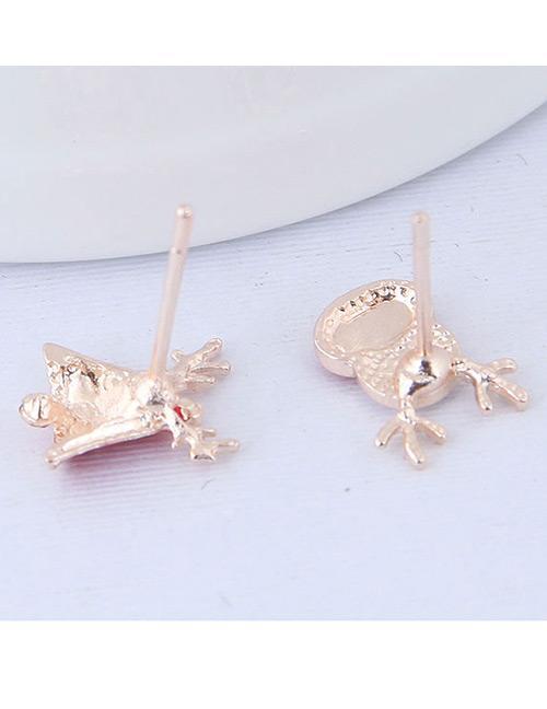 Detail Gambar LRC Anting Tusuk Fashion Red+white Deer Shape Decorated Earrings2Pcs Terbaru