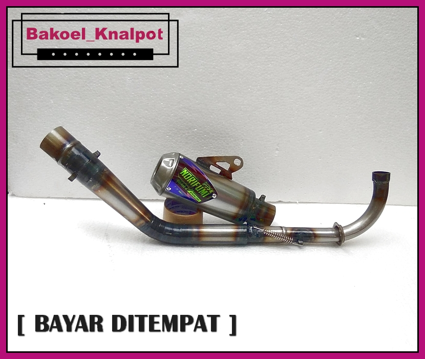 knalpot racing/kenalpot racing kawahara trioval for jupiter/vega/shogun/smash/supra/blade/grand/legenda/windll