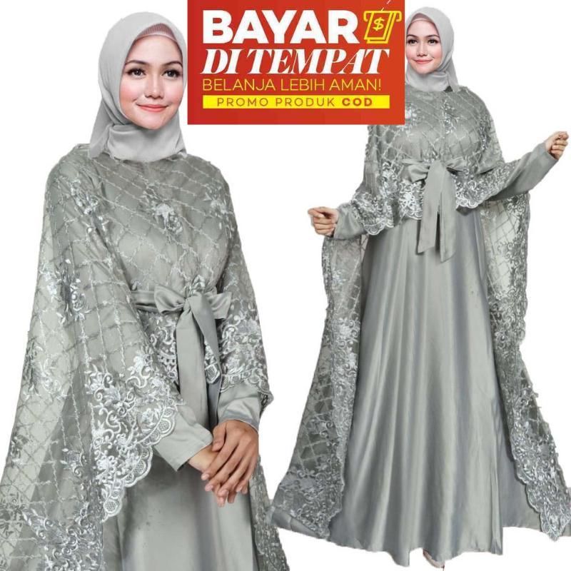 Review Moslemwear Gamis Pesta Brukat Premium Original Real Pic