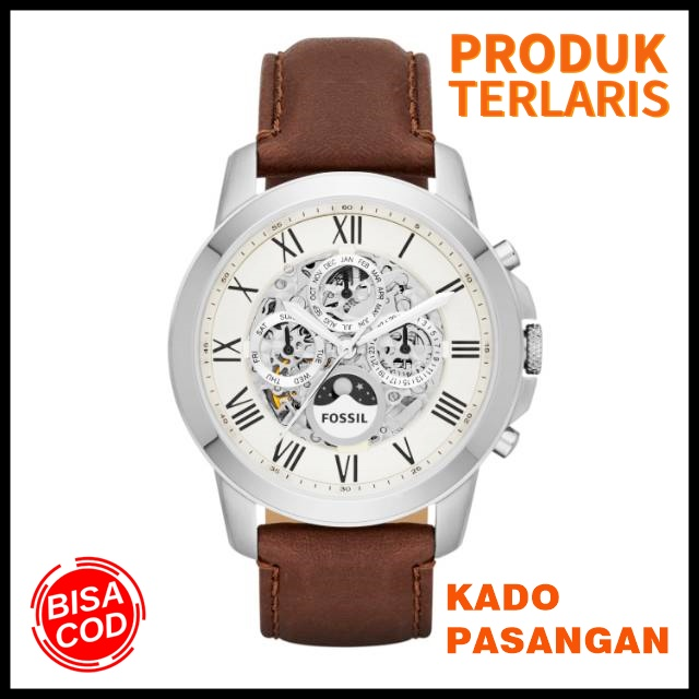 terlaris!!! jam tangan fossil pria original fashion pria anti air outdoor kado branded watch keren vintage me 3027/ me3027 moonphase automatic