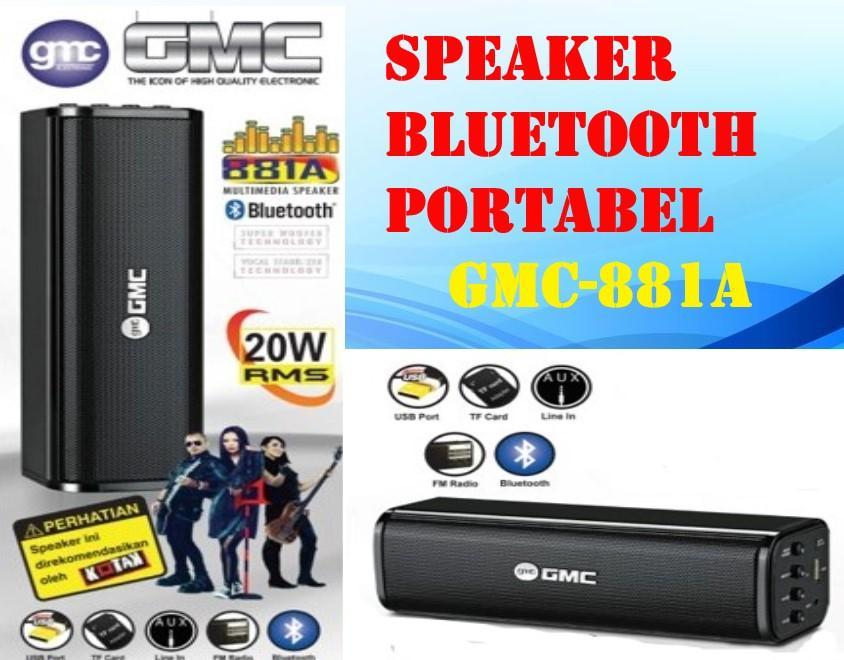 speaker bluetooth portable gmc 881a extra bass tf card/usb/fm radio
