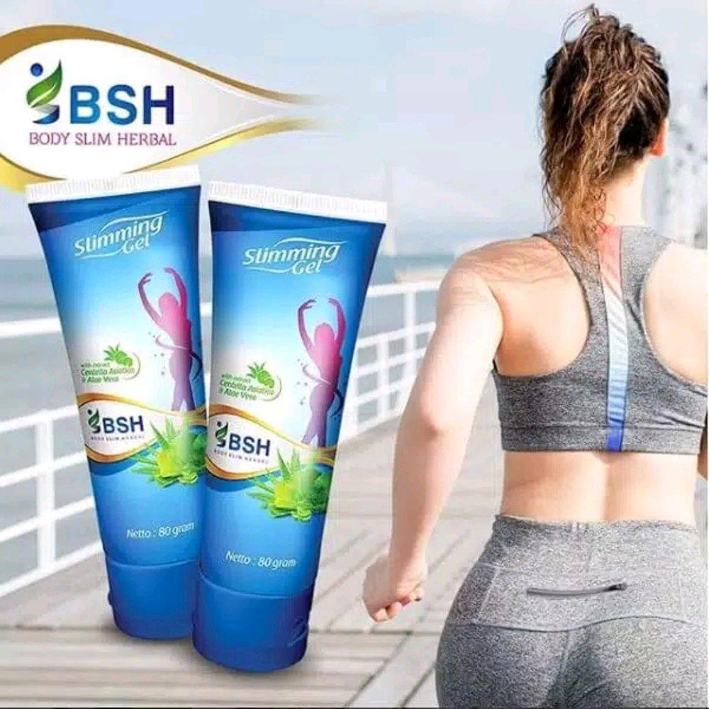 ... BSH Lotion Slimming Gel Pelangsing Oles Body Slim Herbal Isi 80ml Original Dengan Formula Baru Skin