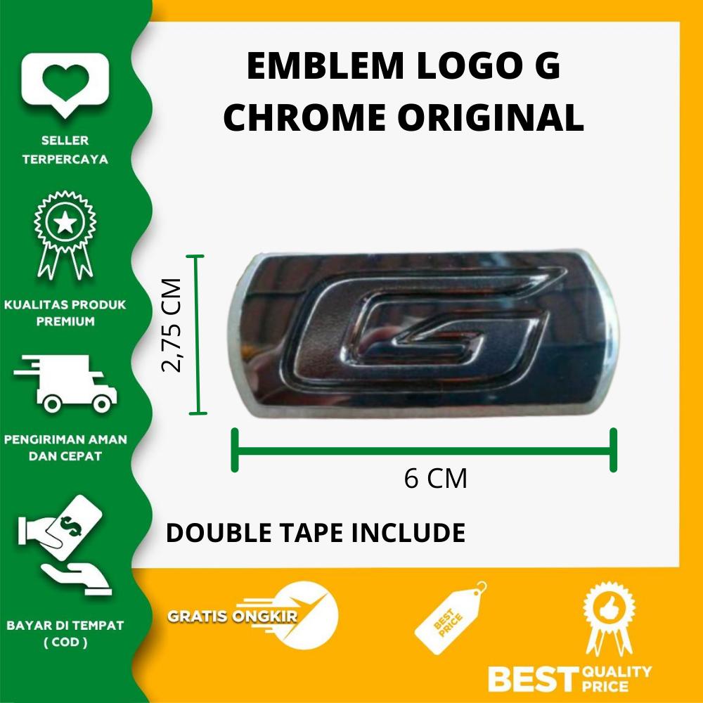 emblem logo g hitam original dimensi pjg 66 cm lebar 37 cm
