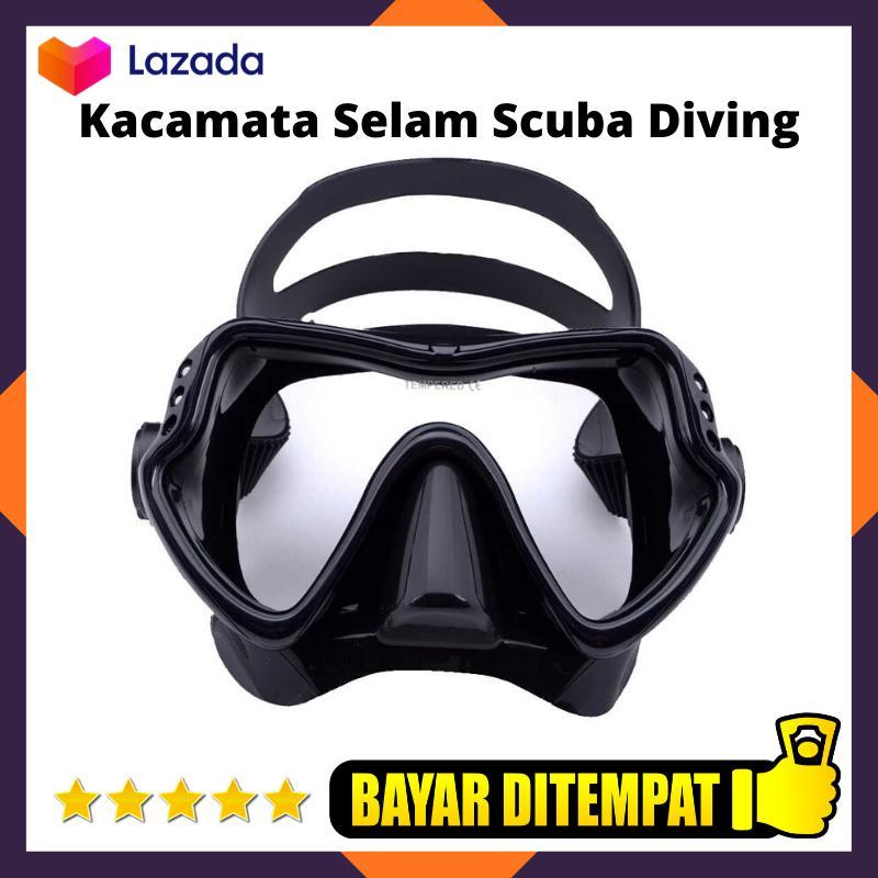 kacamata snorkeling selam scuba diving tempered glass snorkling lixada kacamata snorkeling menyelam / kacamata berenang / aksesoris olahraga renang