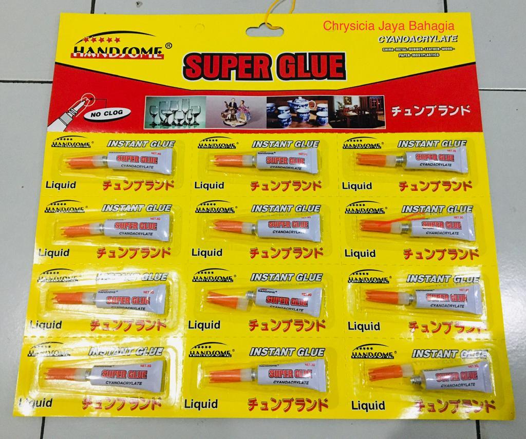 1 pack – 12 pcs – lem korea – lem setan – lem serba guna – lem bond – power glue handsome 5gr w27
