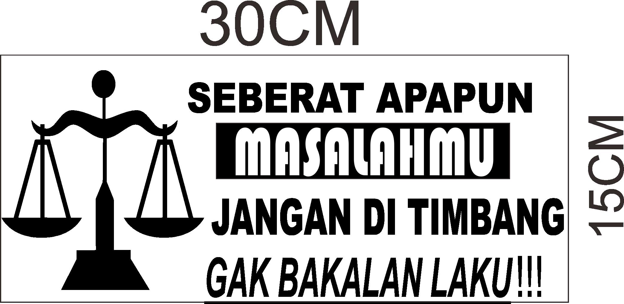cutting sticker  kata-kata pic up untuk kaca belakang