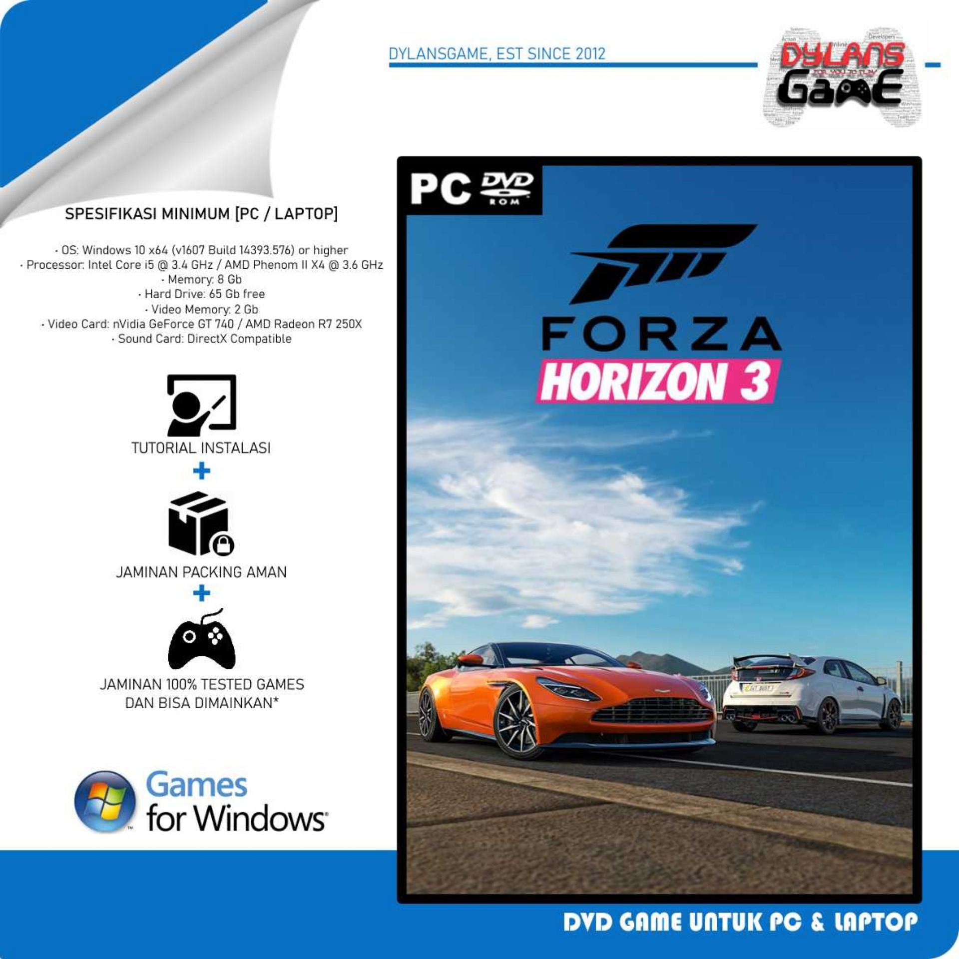 forza horizon 3 pc games dvd game laptop cd game pc