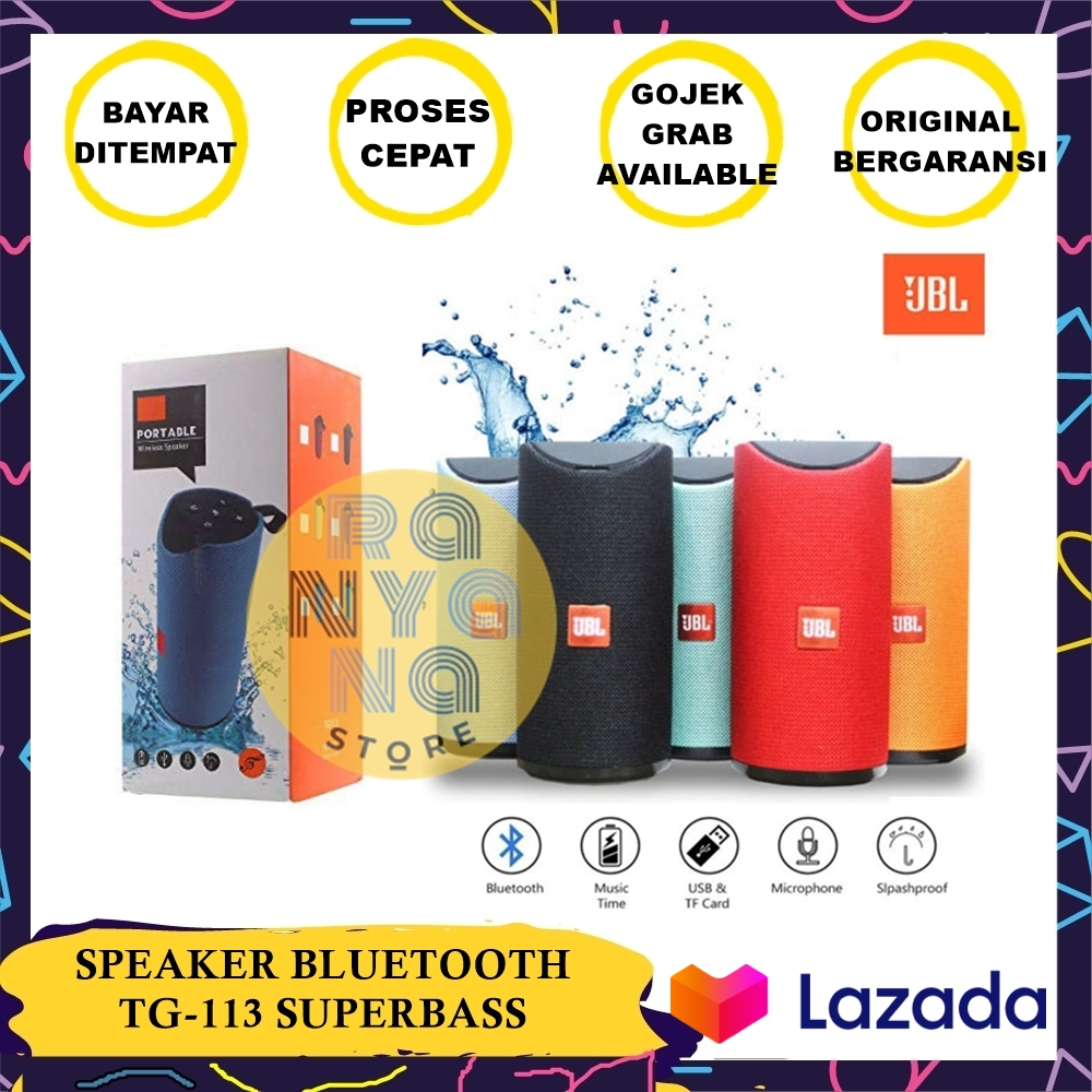 speker / speaker bluetooth jbl tg113 dijamin suara kencang superbass – warna random