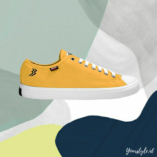 yourstyle.id – sepatu pria sneakers casual trendy original goff max type timeless low yellow olive grey kuning