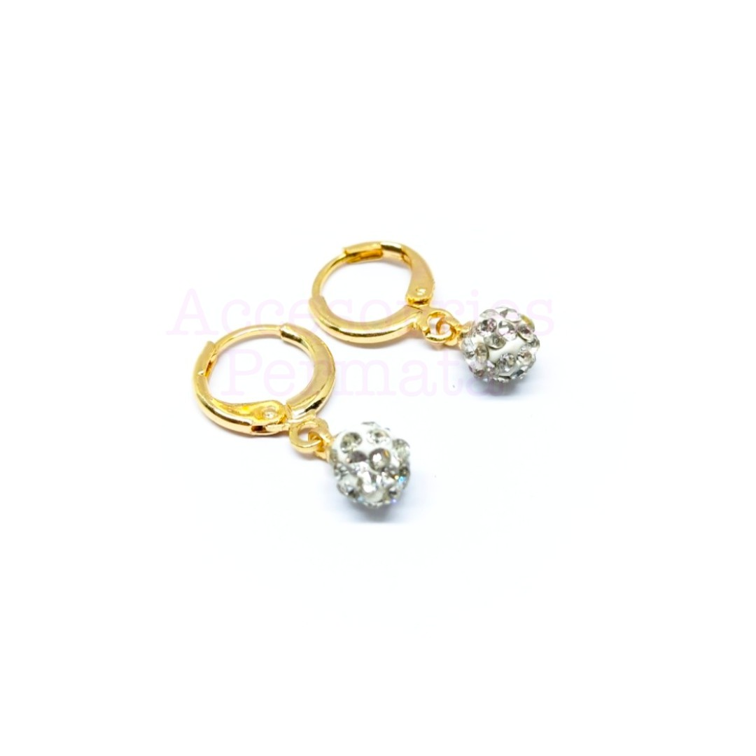 Anting Wanita Xuping Perhiasan Fashion Motif Disko Permata Xuping Gold