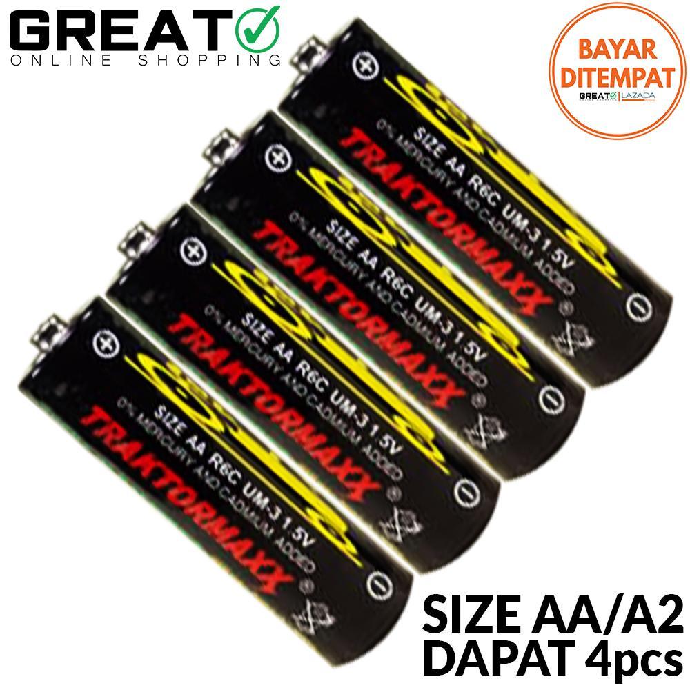 baterai / batre / batrai / battery aa / a2 anti bocor traktormaxx – 4pcs