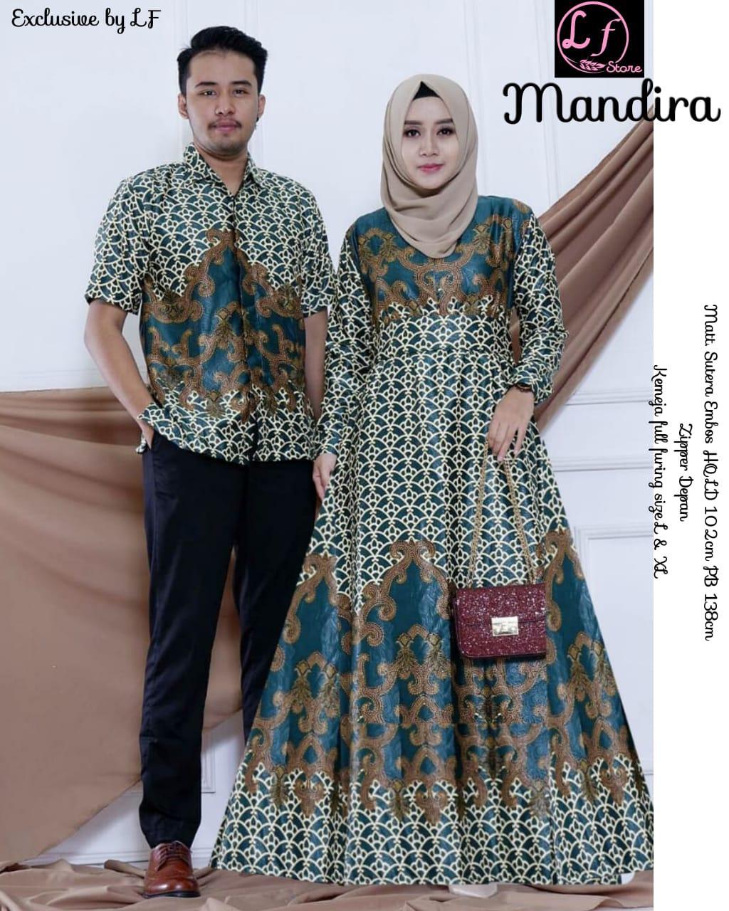 Review Seragam Batik Keluarga Couple Baju Batik Gamis Family Ld