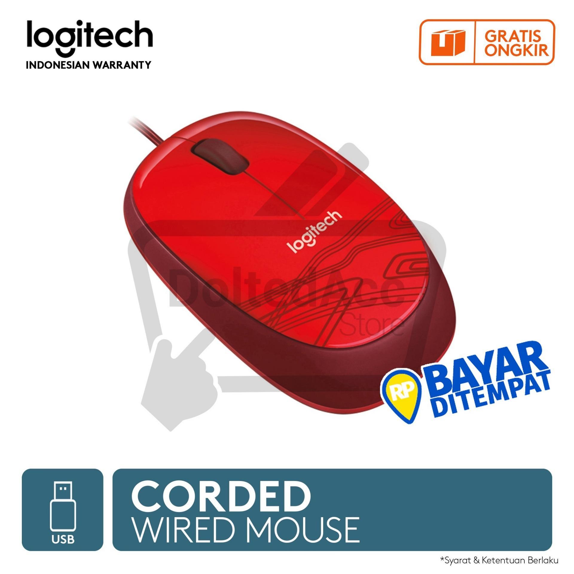 Detail Gambar Logitech M105 Mouse - Merah Terbaru