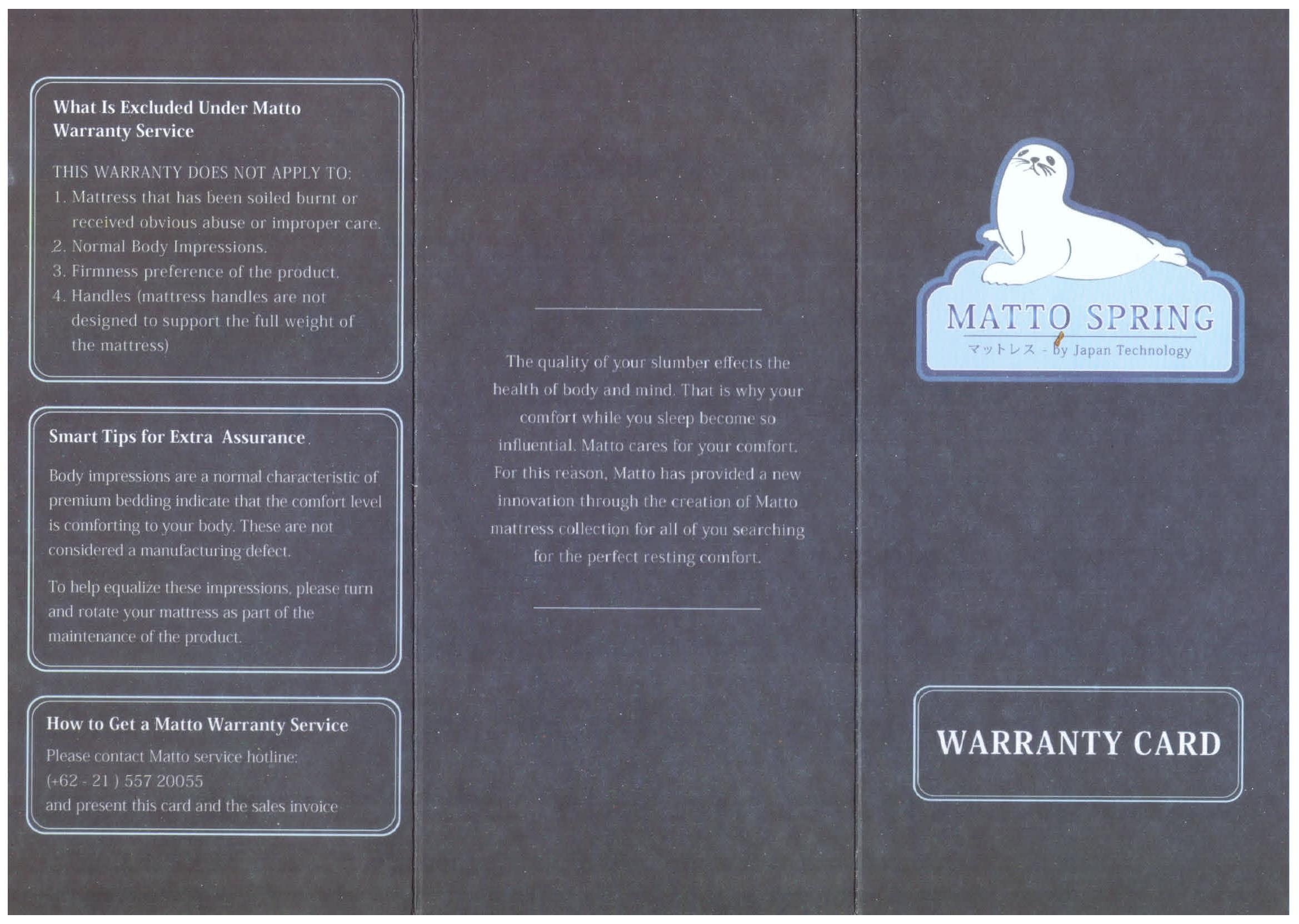 ... Matto Shori Springbed Standard (27 Cm) Biru Size 180 x 200 - Mattress Only