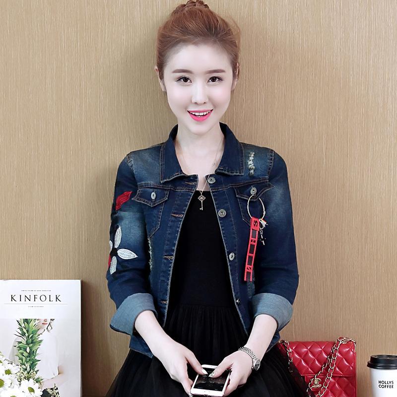 ... 2018 busana musim gugur model baru Gaya Korea membentuk tubuh casual  bordir baju wanita murid Atasan 889edbee88
