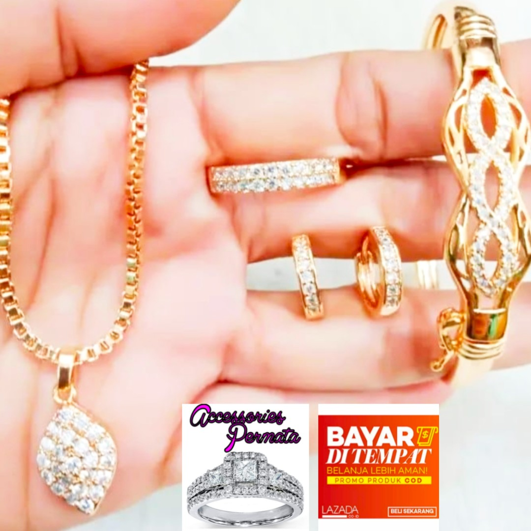 perhiasan  satu set xuping set cantik best er 004