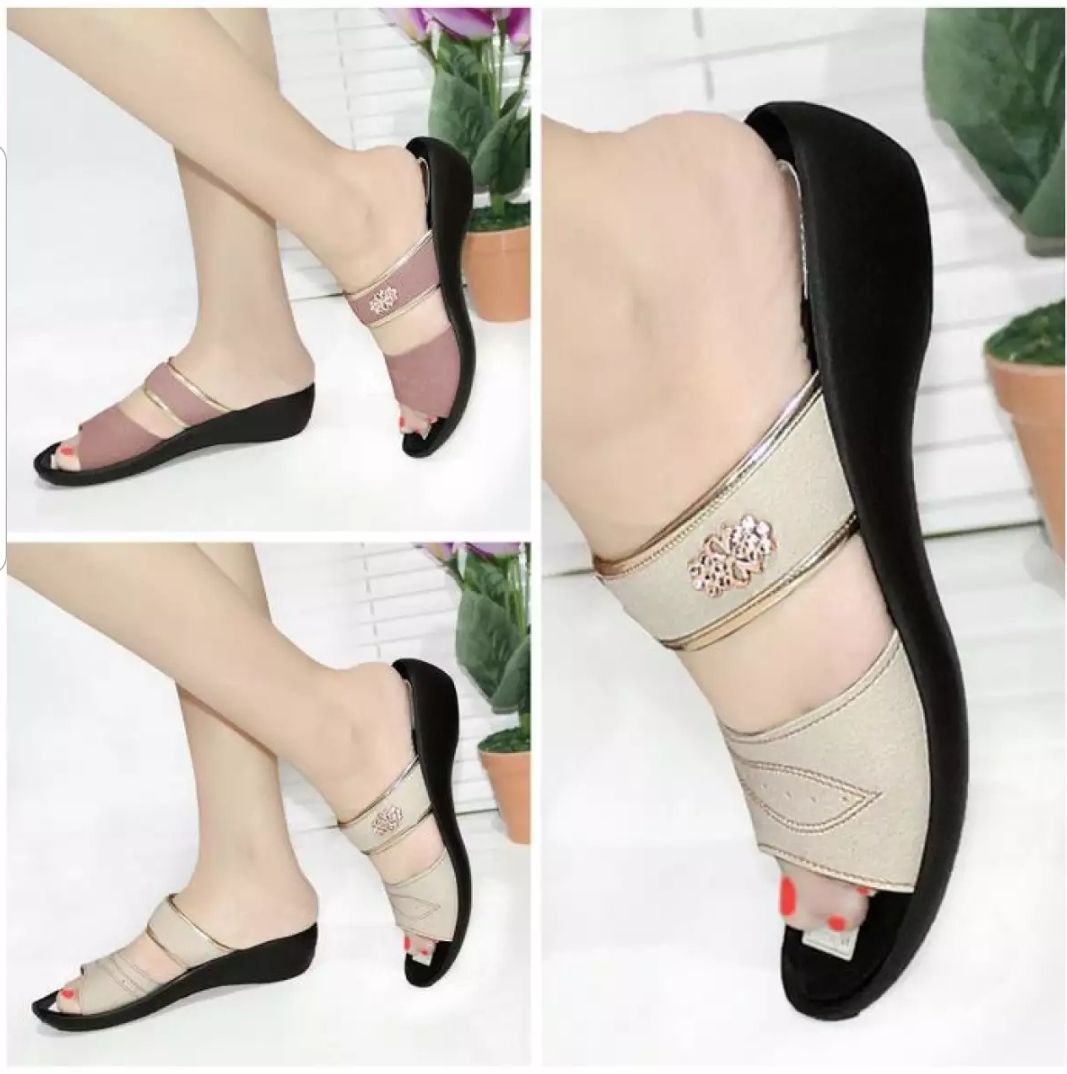 sandal wedges cantik sendal selop mulan 921 terlaris