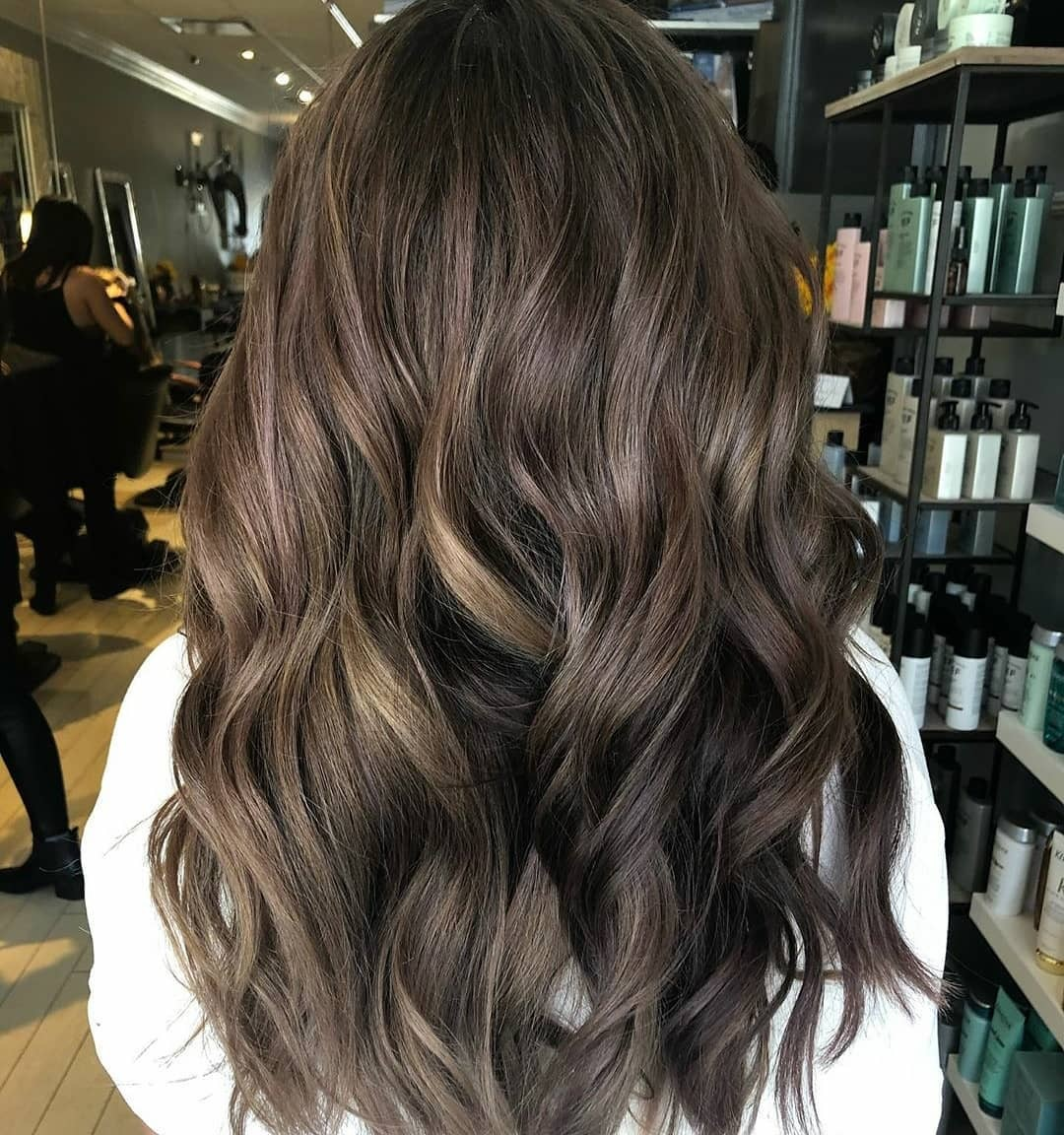 js hairclip ombre wave curly keriting gelombang big layer 45cm hair clip high quality – ombre brown ( coklat )
