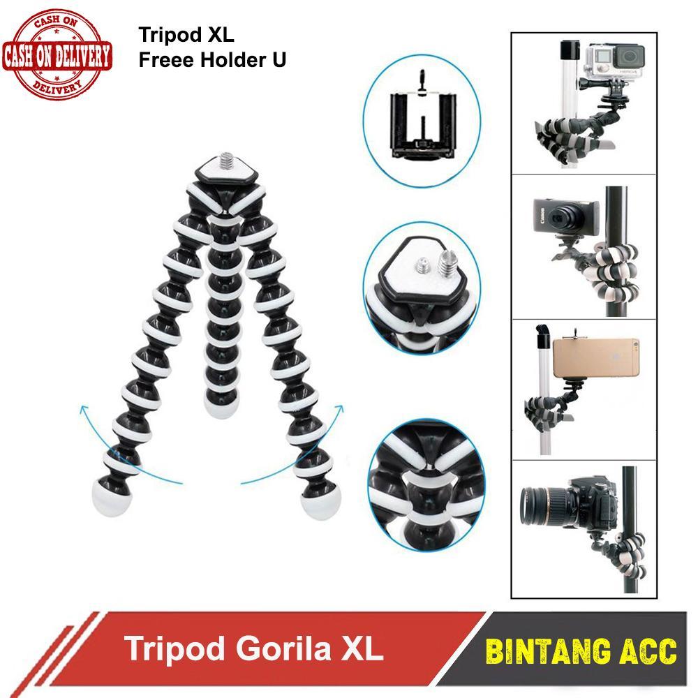 Tripod Camera - Gorilla Pod Tripod For Kamera Dslr Gorillapod Octopus XL Free Holder U Bintang