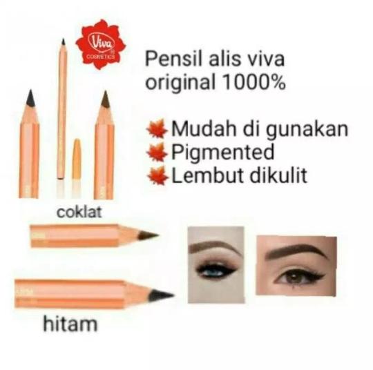promo paket 2 pcs -promo paket 2 pcs – viva pensil alis / pencil eyebrow viva – warna coklat hitam