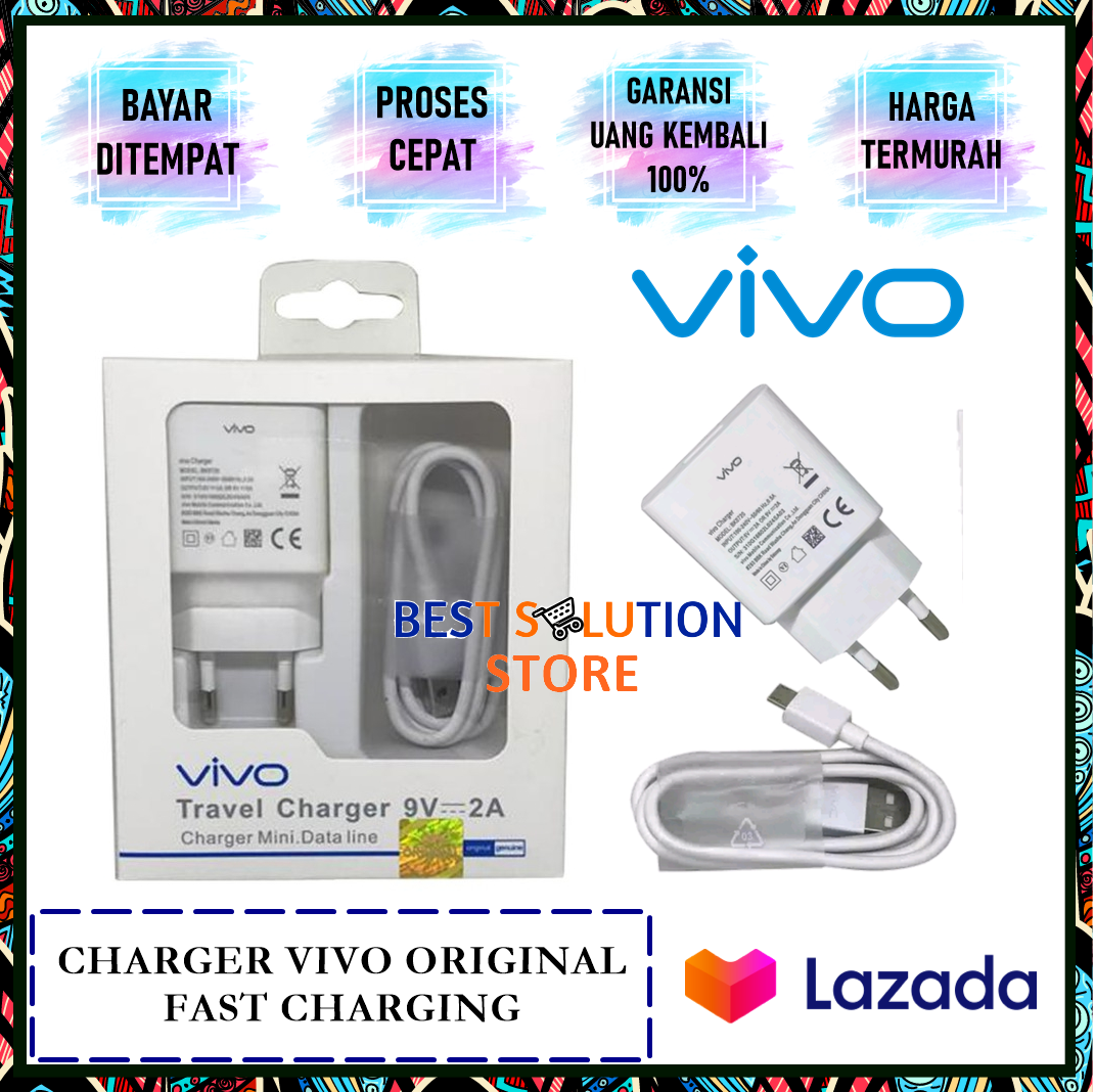 Charger Vivo V11 PRO Support Fast Charging type BK0720 Kabel Micro USB Original 100%