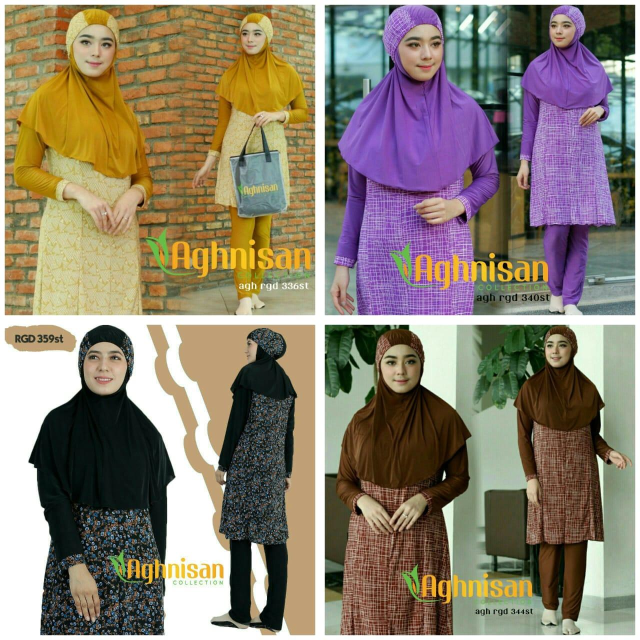 Aghnisan Baju Renang Muslimah - Pink - 4 .