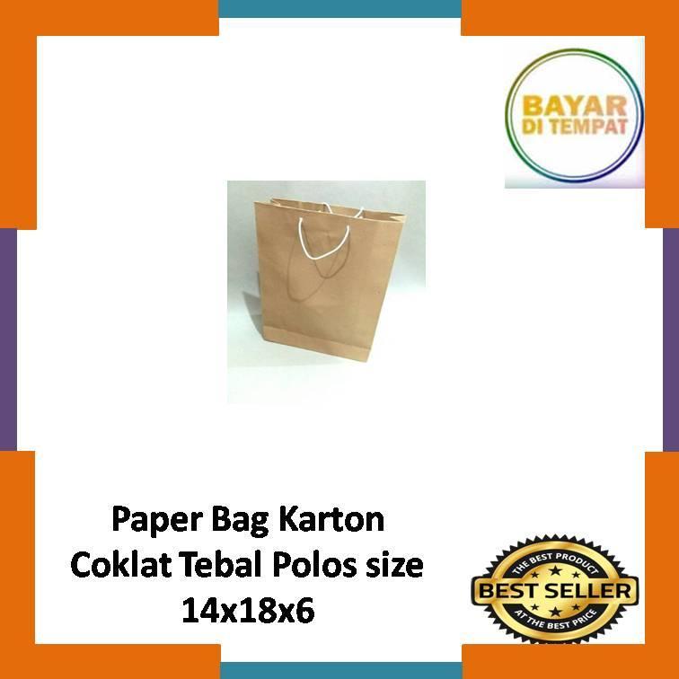 promo !!! 1 pcs paper bag karton coklat polos size mini