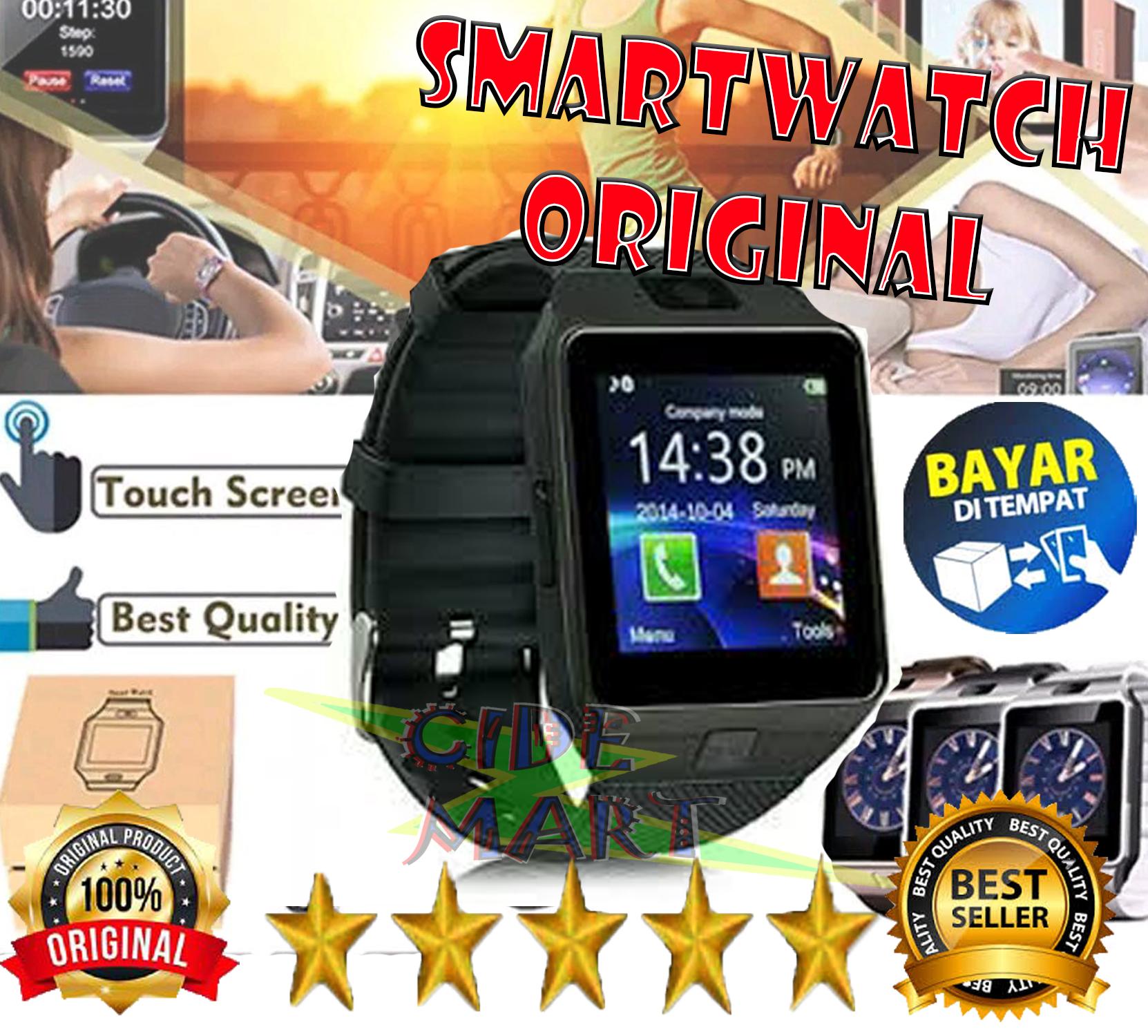 [original-bisa cod] smart watch dz-09 / smartwatch dz09 multifungsi !