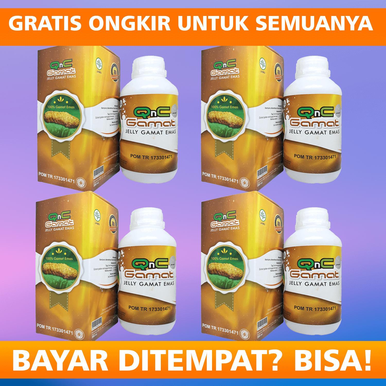 paket hemat  qnc jelly gamat 4 botol original resmi