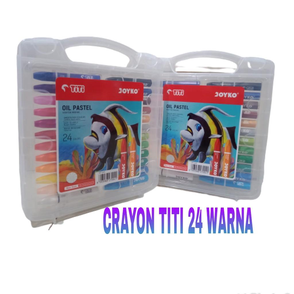 crayon joyko titi oil pastel 24 warna