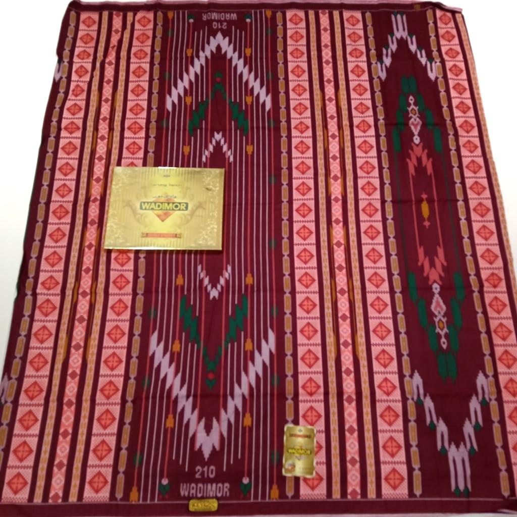 sarung pria wadimor bali print motif bhs no 1  2020 warna [ merah ] sarung wadimor
