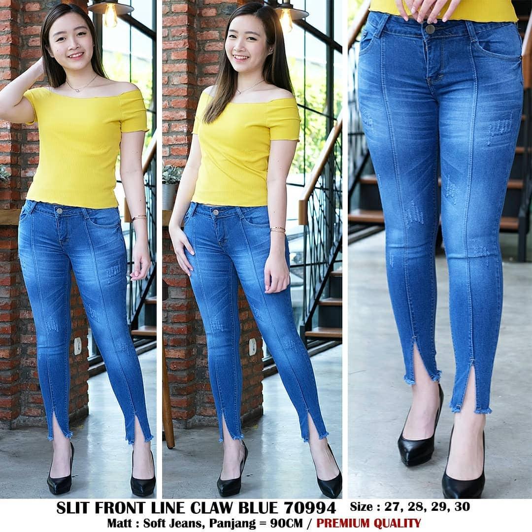 ✅ready bia – celana jeans slice wisker blue premium quality model