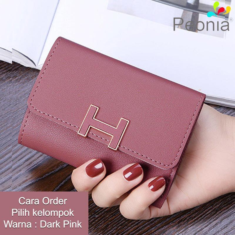 Peonia - Dompet Wanita Kecil Lipat Import - Korea Fashion Style - H Short