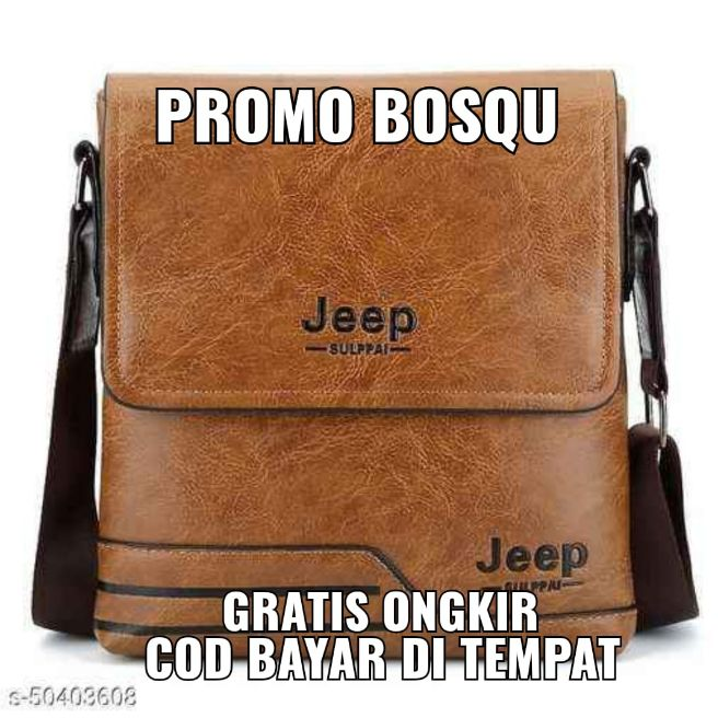 tsk84 tas slingbag kulit jeep import original