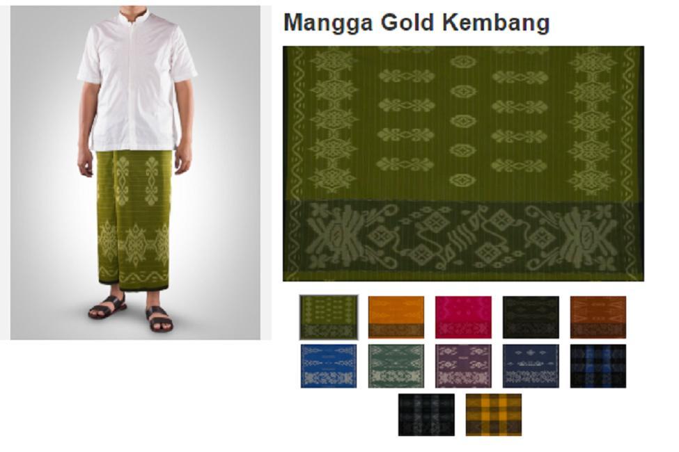 sarung mangga gold motif kembang – 1 pcs