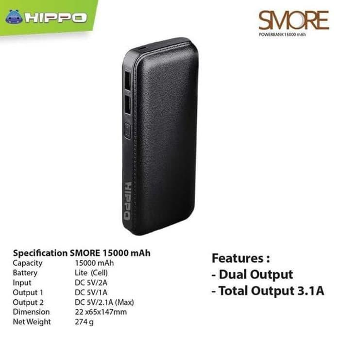 Terbagus Power Bank Hippo Smore Series 15000 Mah