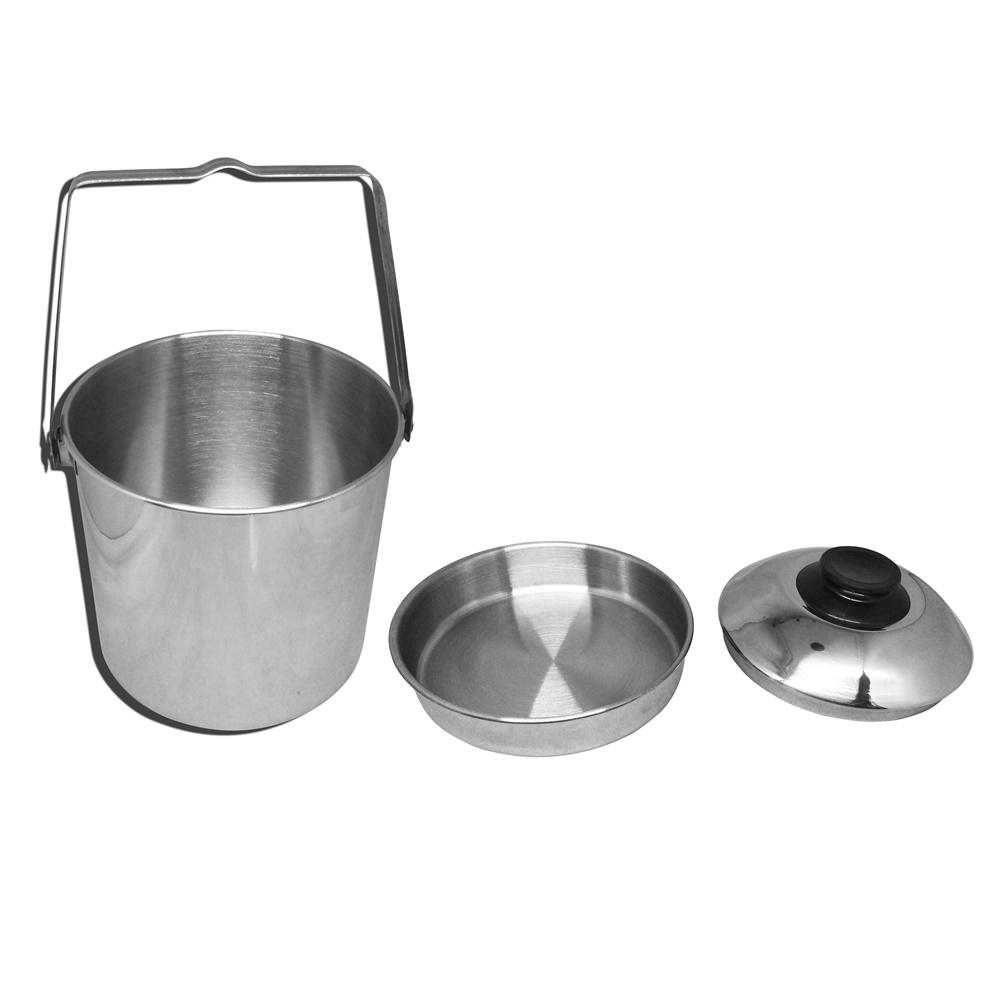 Detail Gambar Maspion Rantang Tunggal Single Food Carrier 16cm Stainless Steel - Silver Terbaru