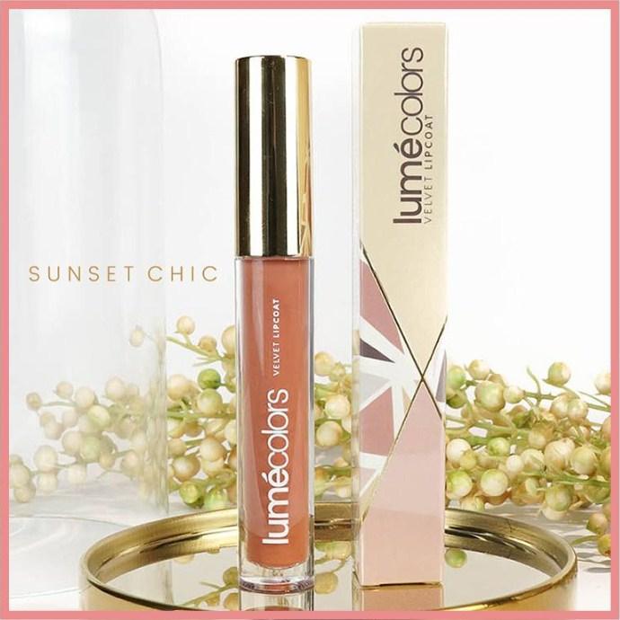 lumecolors velvet lipcoat sunset chic lipstik matte (lipstick tahan lama 100% halal resmi bpom)