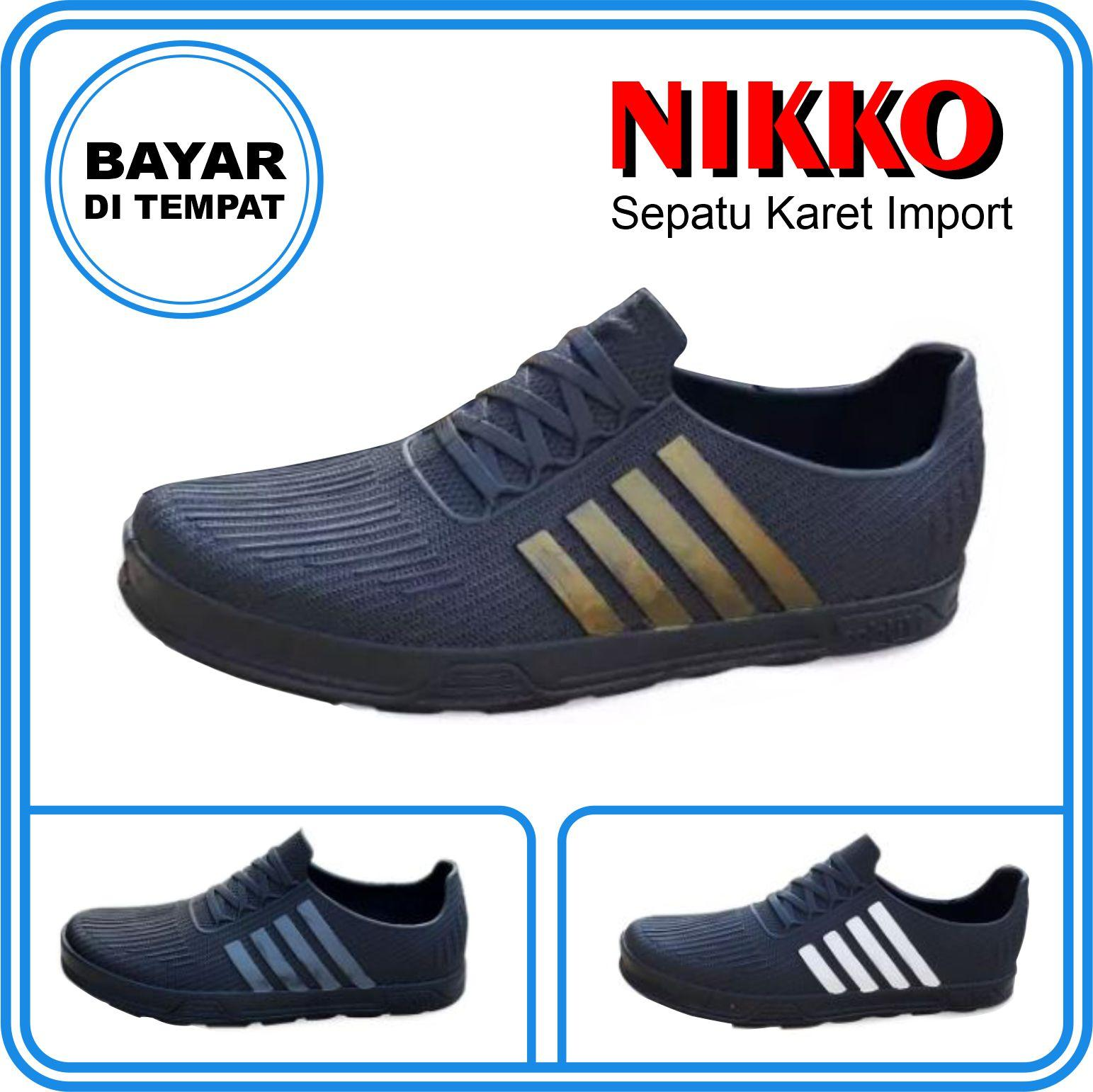 troya –  sepatu nikko awet berkualitas 38-43 / sepatu karet berkualitas / shkr sepaturingan lari santai gaul berkualitas troyastore
