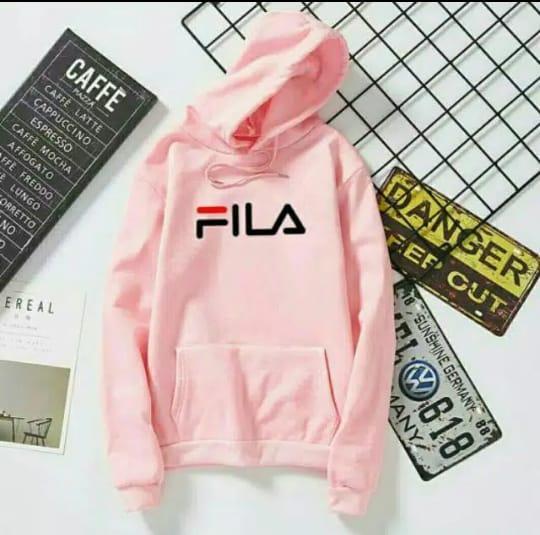 Sweater Hoodie FILA Wanita Warna Pink