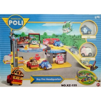 0960030280 | Mainan Anak Robocar Poli Roy Fire Headquarters XZ-155