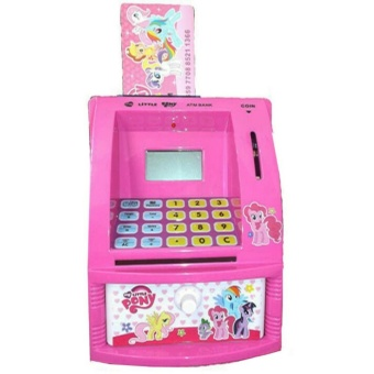 [0960760001] My Little Pony ATM Bank Anak Celengan Mainan Edukasi Anak