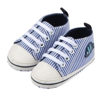 1 Pasang Newborn Bayi Striped Pertama Walker Soft Sepatu (Tidak  Ditentukan)-Intl 4e1c9ff411