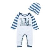 2 Pcs Bayi Bayi Anak-anak Letter Arrow Cetak Romper Jumpsuit + Hat Pakaian Pakaian-Intl - 4