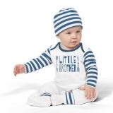 2 Pcs Bayi Bayi Anak-anak Letter Arrow Cetak Romper Jumpsuit + Hat Pakaian Pakaian-Intl - 2