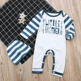 2 Pcs Bayi Bayi Anak-anak Letter Arrow Cetak Romper Jumpsuit + Hat Pakaian Pakaian-Intl - 3