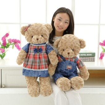 Harga 55cm Soft Stuffed Teddy Bear Plush Dolls Couple Doll Bears Birthday Gift,Woman - intl