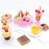 75 Pcs/set Plastik Dapur Kue Ulang Tahun Mainan Pendidikan Awal untuk Anak-Internasional ...