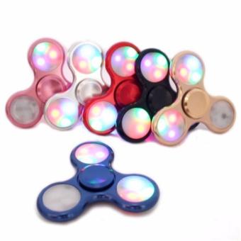 ANGEL - Fidget Spinner LED New Exotic Hand Toys Mainan Tri-Spinner EDC Focus Games Fidget Spinner Metalic Led - Random ...