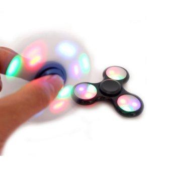 ANGEL LED Fidget Spinner Hand Toys Mainan Tri-Spinner EDC Ceramic Ball Focus Games Penghilang stress Warna Hitam ...